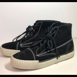 Alexander Wang Perry Suede High Top Shoes